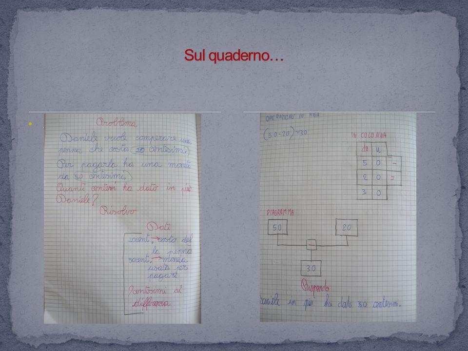 Sul quaderno… .