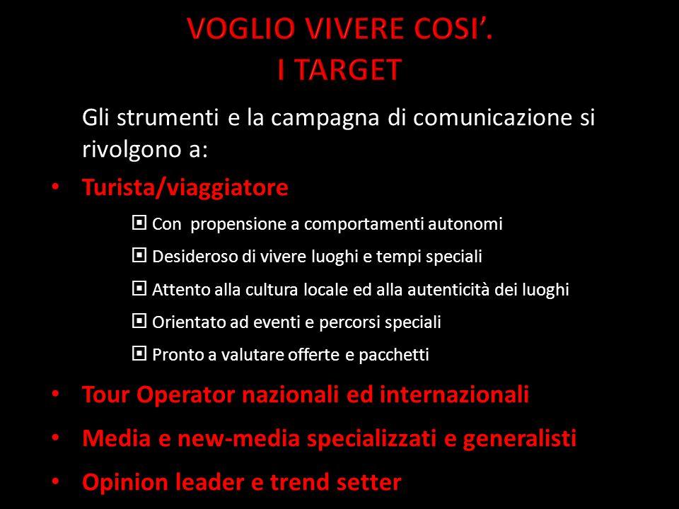 VOGLIO VIVERE COSI'. I TARGET