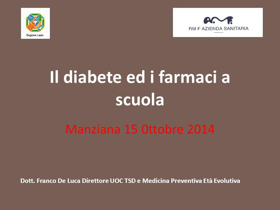 Il diabete ed i farmaci a scuola