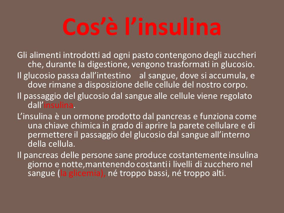 Cos'è l'insulina