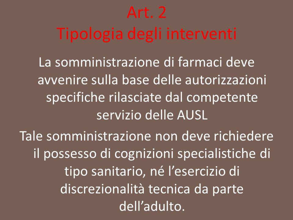 Art. 2 Tipologia degli interventi