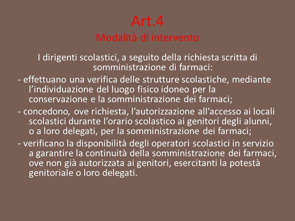 Art.4 Modalità di intervento