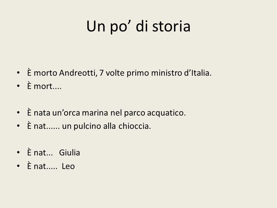 Un po' di storia È morto Andreotti, 7 volte primo ministro d'Italia.