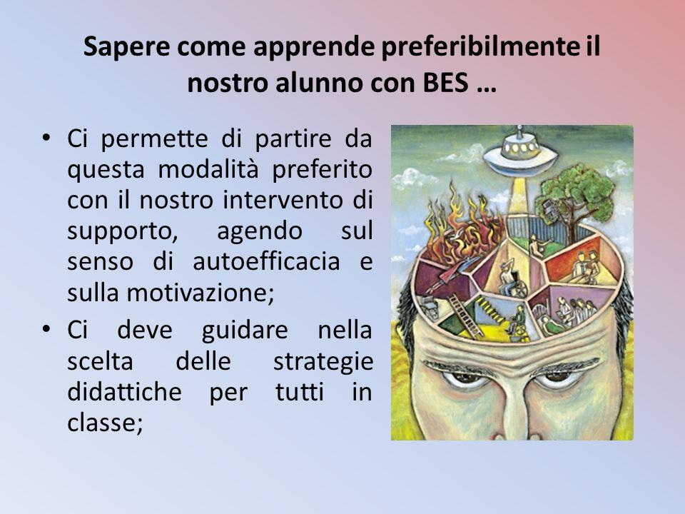 Sapere come apprende preferibilmente il nostro alunno con BES …