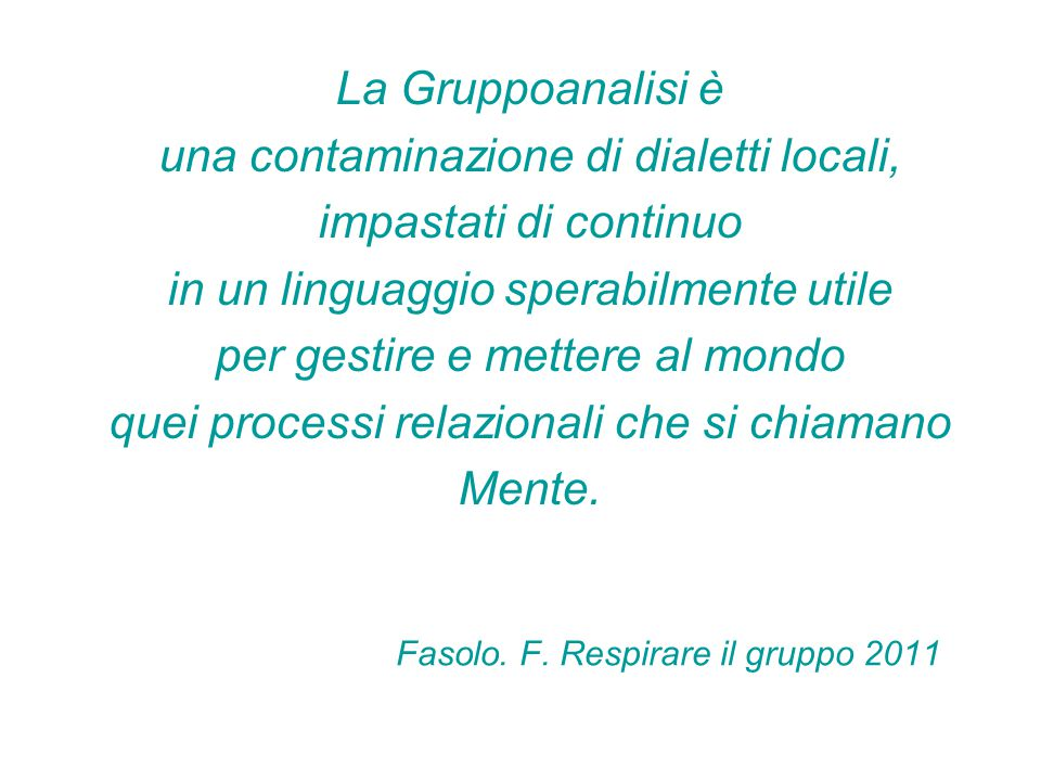 Fasolo. F. Respirare il gruppo 2011
