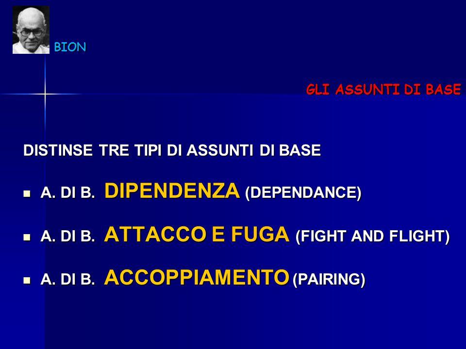 DISTINSE TRE TIPI DI ASSUNTI DI BASE A. DI B. DIPENDENZA (DEPENDANCE)