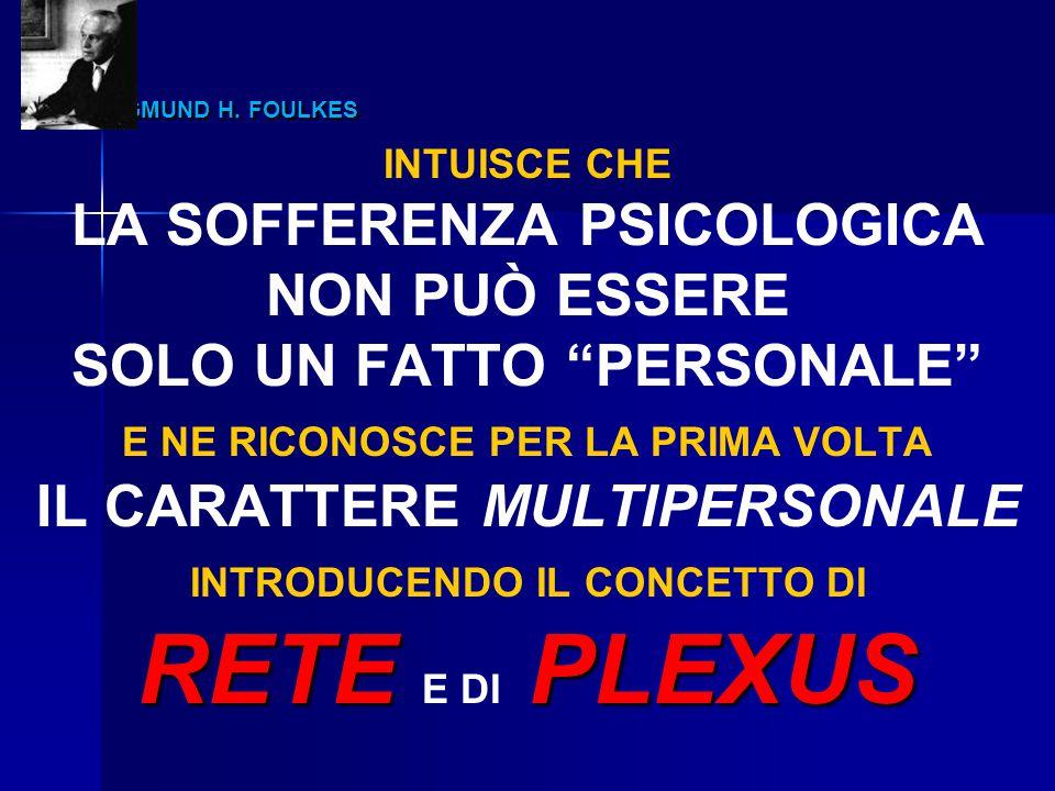 RETE E DI PLEXUS SIGMUND H. FOULKES LA SOFFERENZA PSICOLOGICA