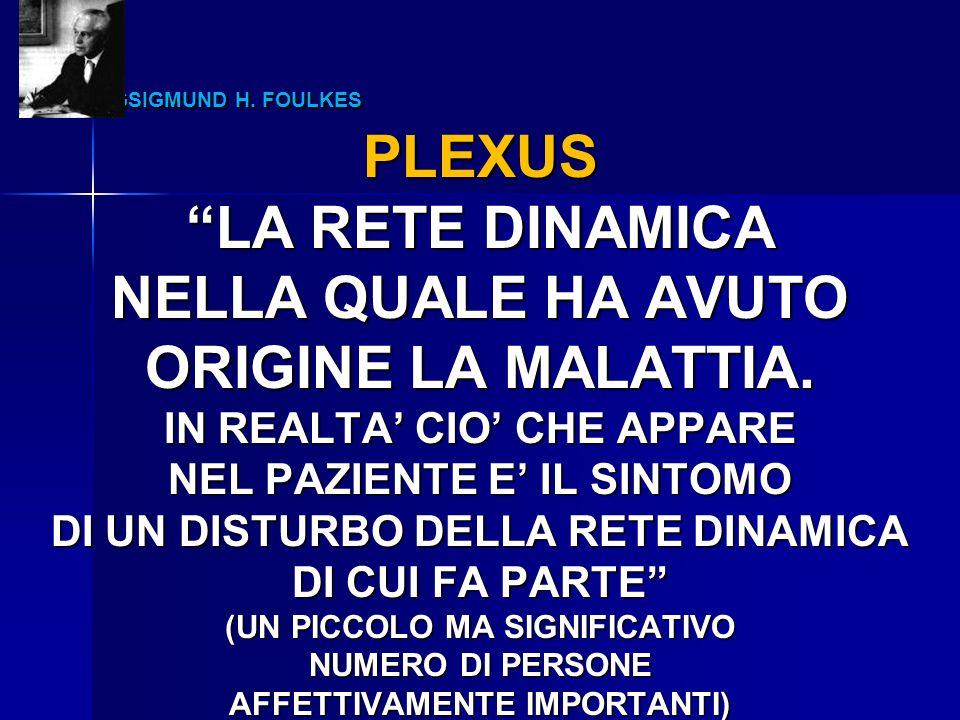 PLEXUS LA RETE DINAMICA NELLA QUALE HA AVUTO ORIGINE LA MALATTIA.