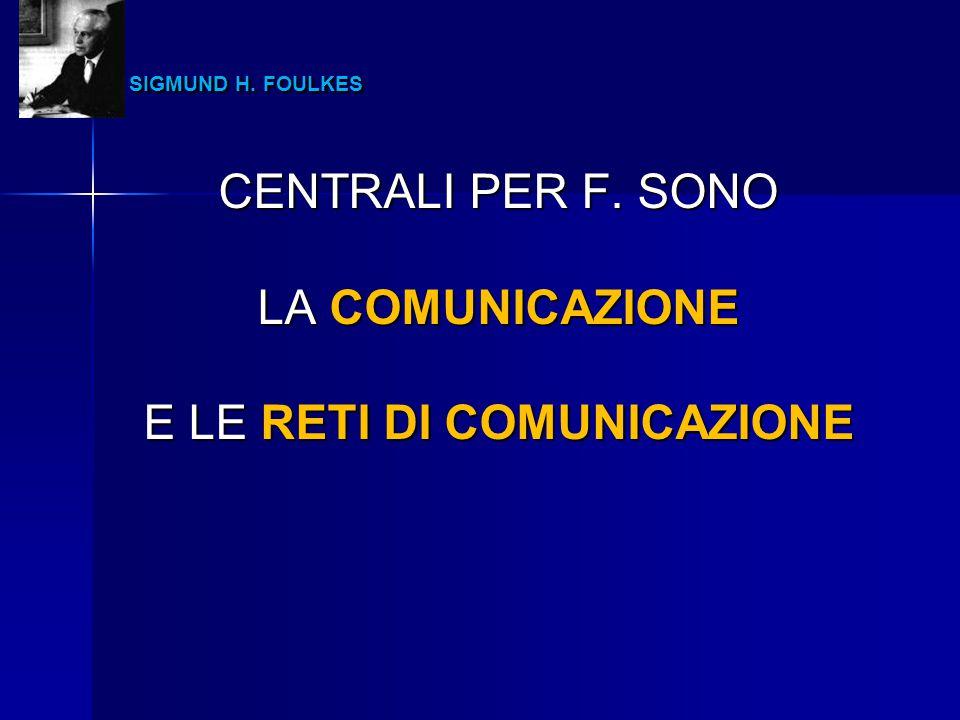 E LE RETI DI COMUNICAZIONE