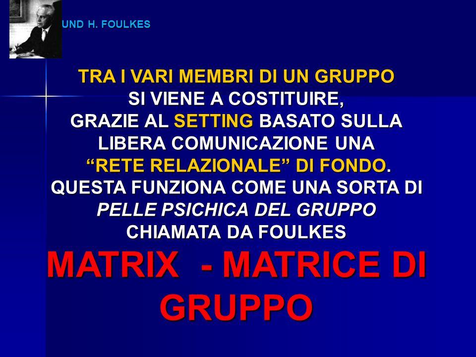 MATRIX - MATRICE DI GRUPPO