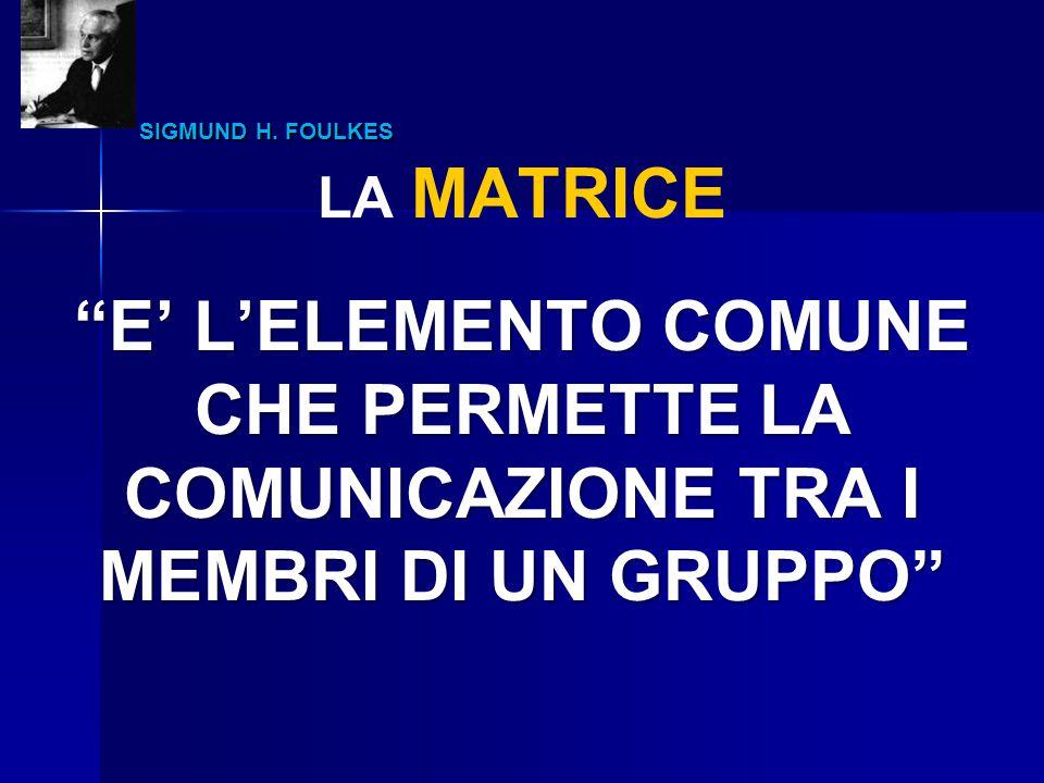 E' L'ELEMENTO COMUNE CHE PERMETTE LA COMUNICAZIONE TRA I