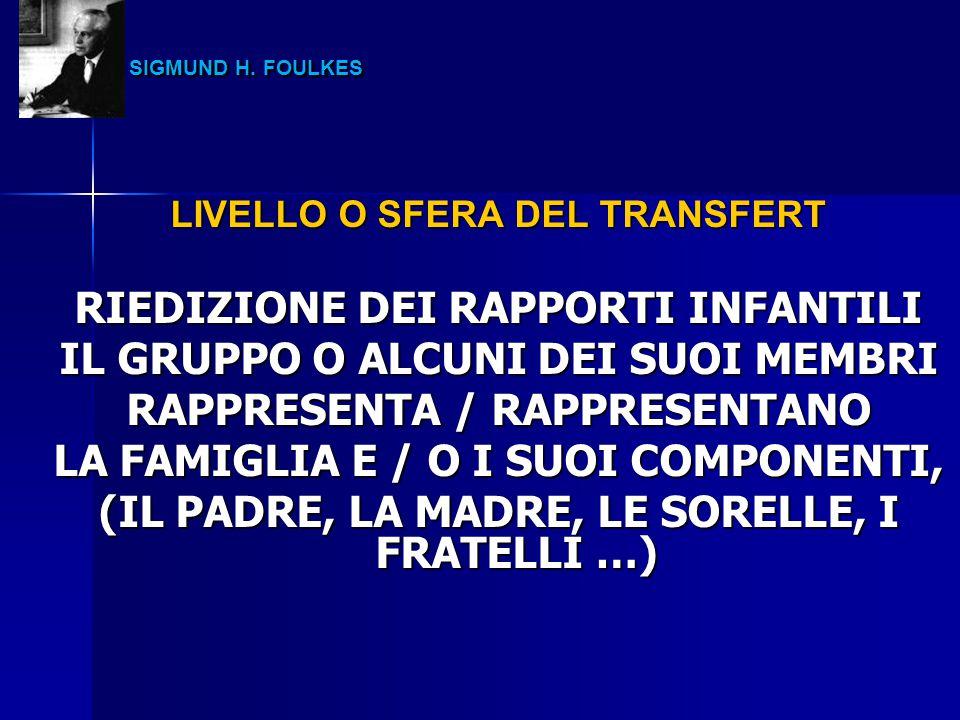 SIGMUND H. FOULKES RIEDIZIONE DEI RAPPORTI INFANTILI