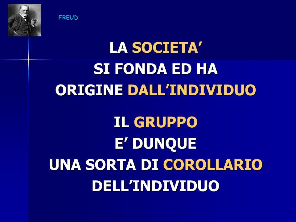 ORIGINE DALL'INDIVIDUO UNA SORTA DI COROLLARIO