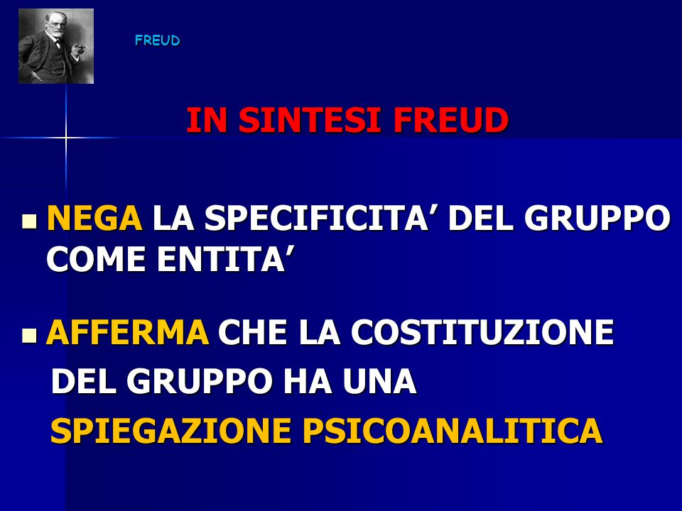 NEGA LA SPECIFICITA' DEL GRUPPO COME ENTITA'
