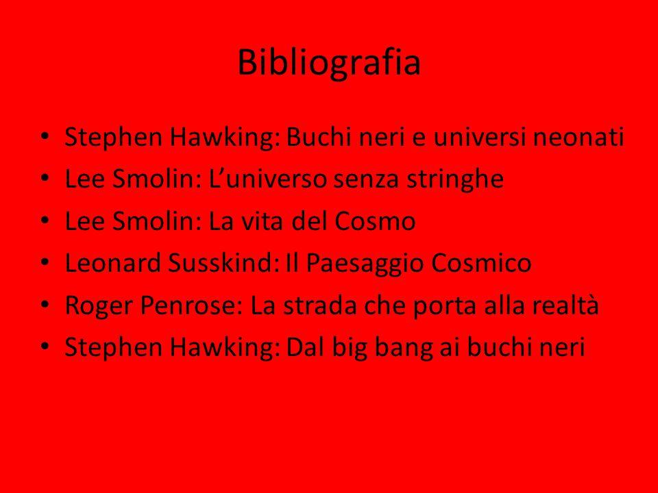 Bibliografia Stephen Hawking: Buchi neri e universi neonati