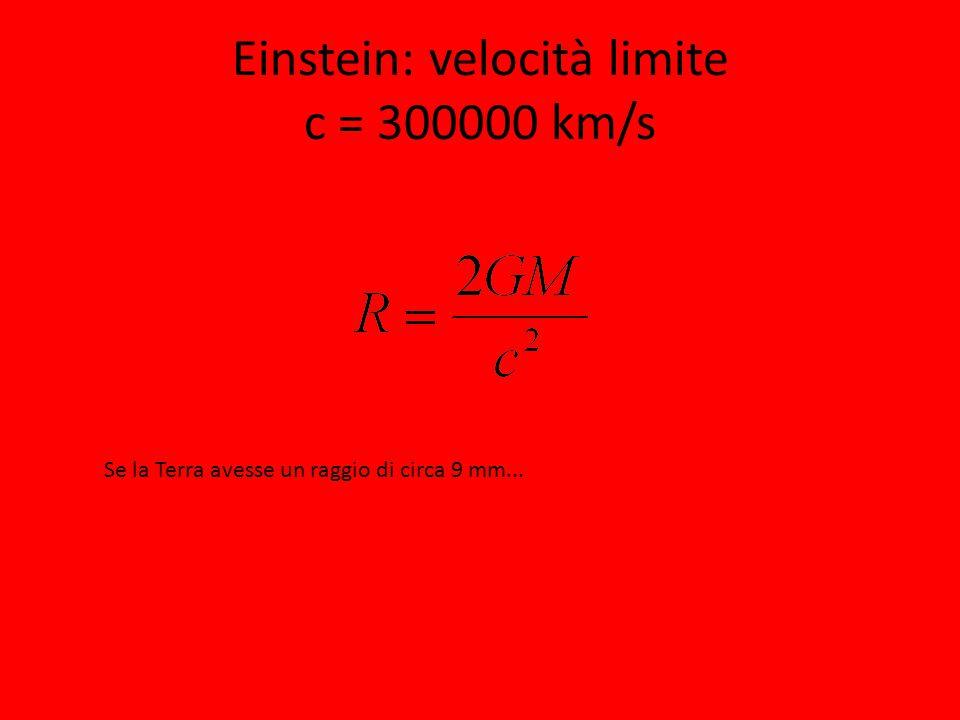 Einstein: velocità limite c = 300000 km/s