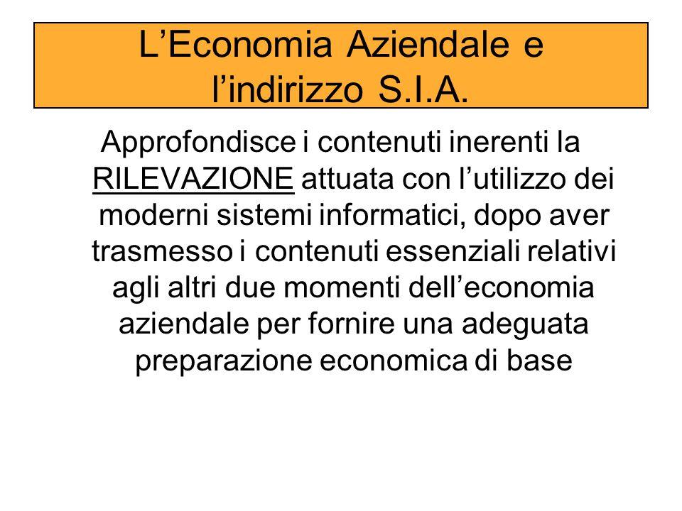 L'Economia Aziendale e l'indirizzo S.I.A.