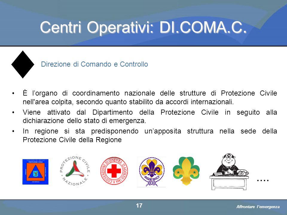 Centri Operativi: DI.COMA.C.
