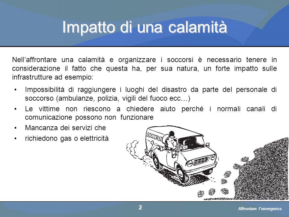 Impatto di una calamità