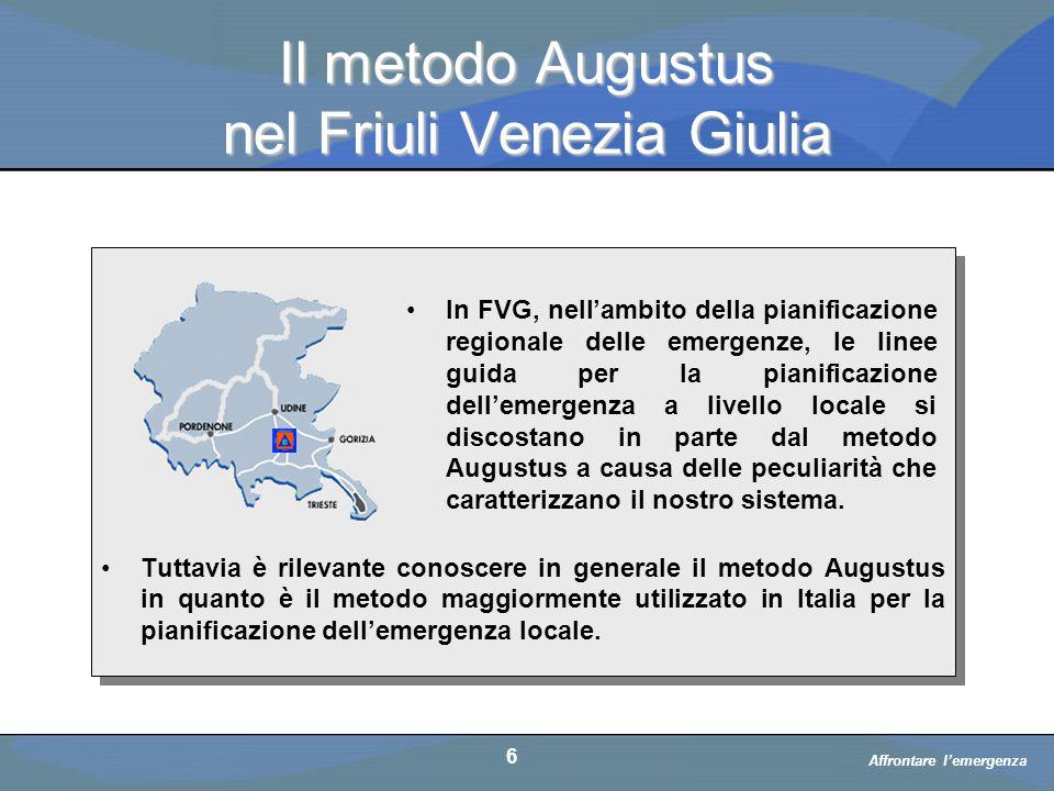 Il metodo Augustus nel Friuli Venezia Giulia