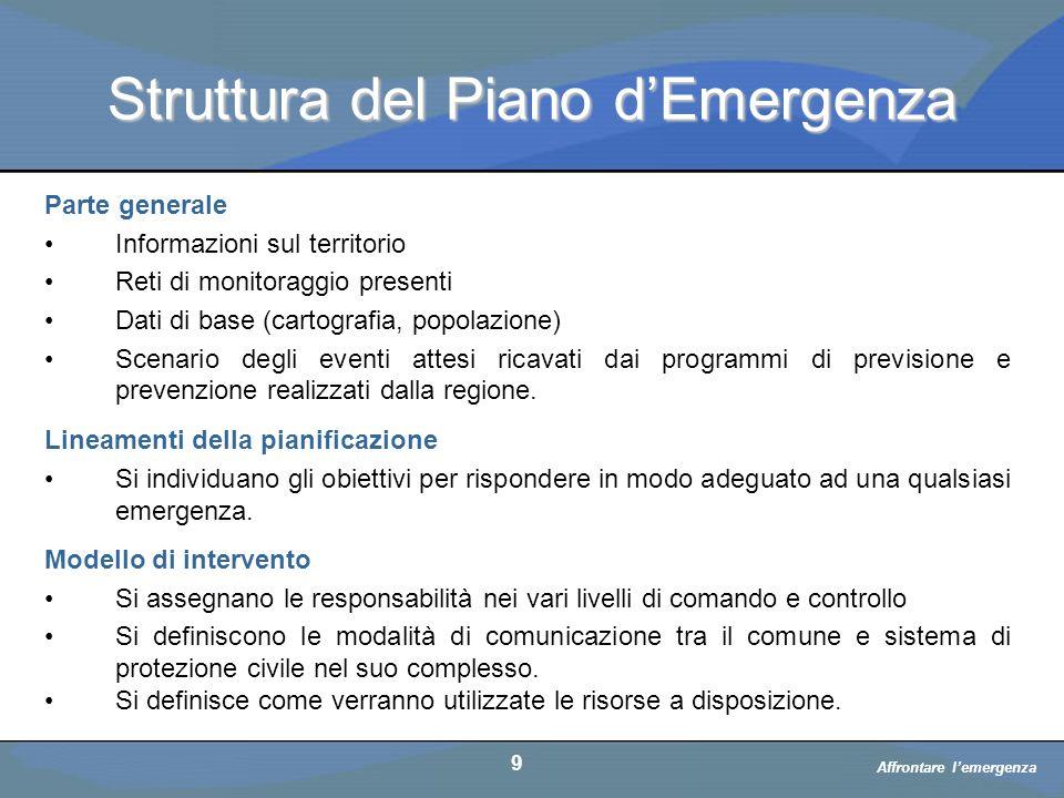 Struttura del Piano d'Emergenza