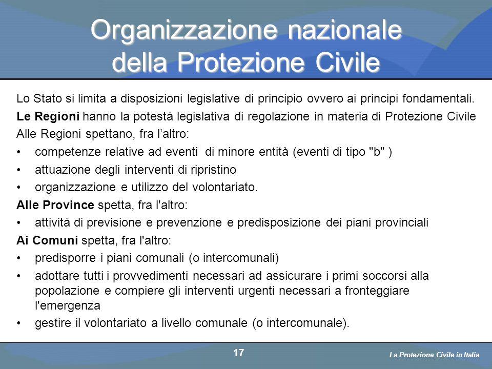 Organizzazione nazionale della Protezione Civile