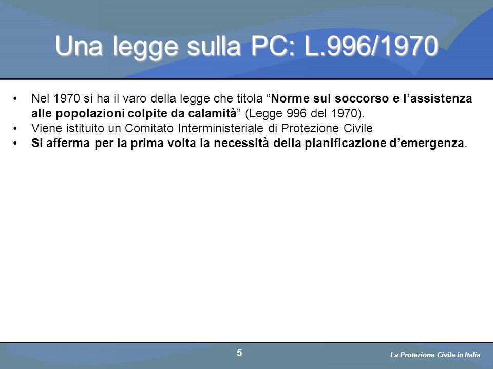 Una legge sulla PC: L.996/1970