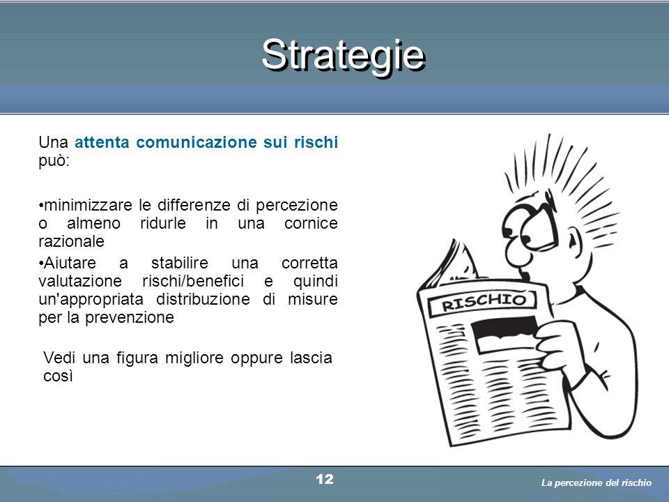 Strategie Una attenta comunicazione sui rischi può: