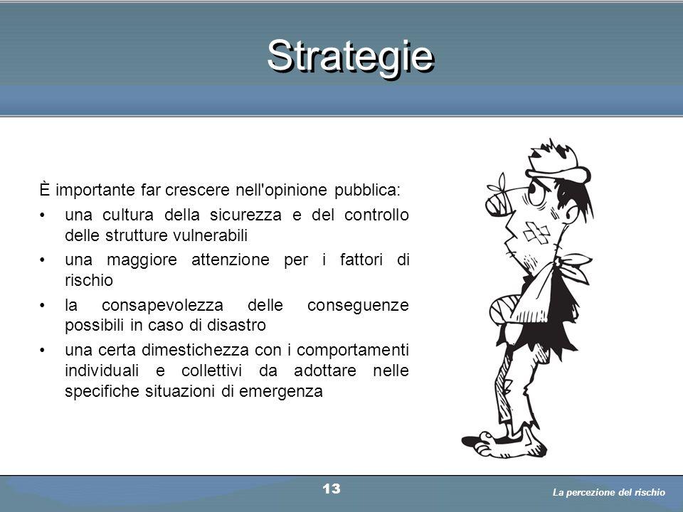 Strategie È importante far crescere nell opinione pubblica: