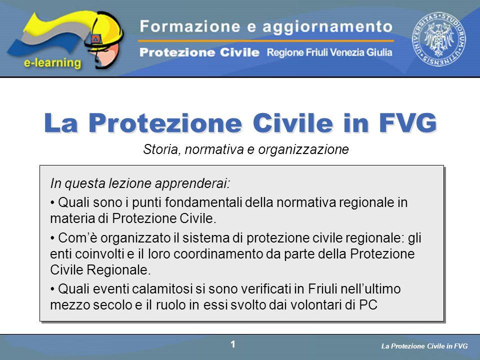 La Protezione Civile in FVG
