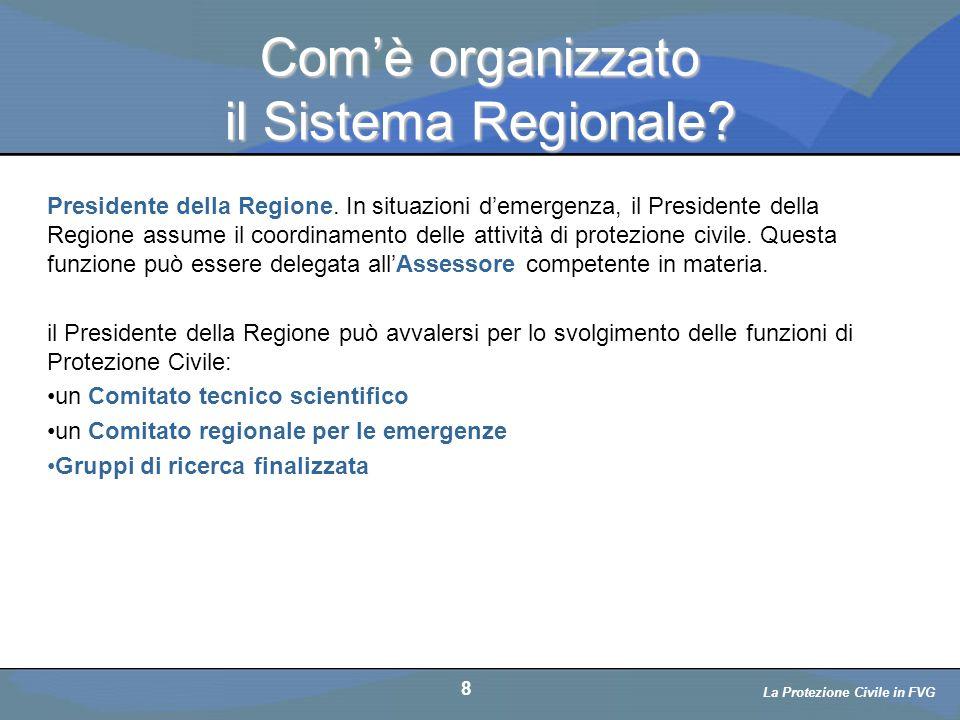 Com'è organizzato il Sistema Regionale