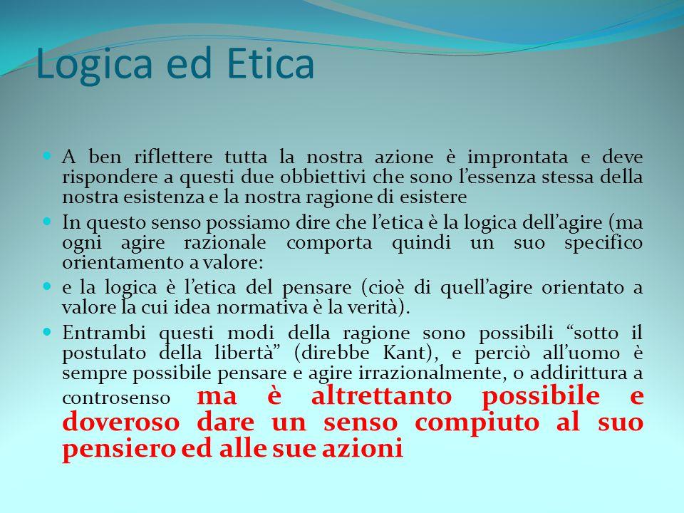 09/03/2011 Logica ed Etica.