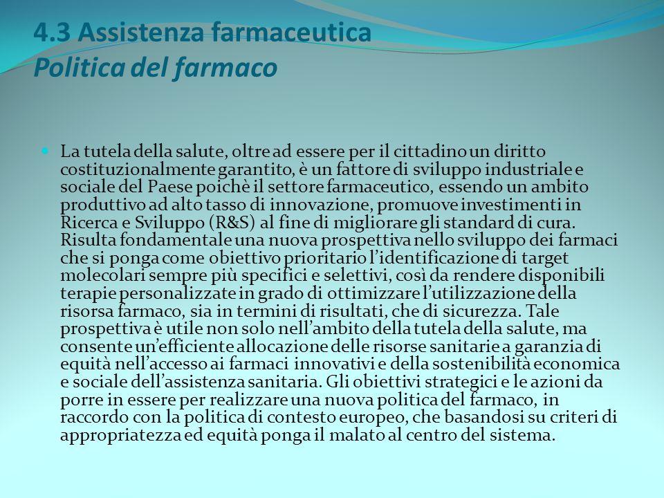 4.3 Assistenza farmaceutica Politica del farmaco
