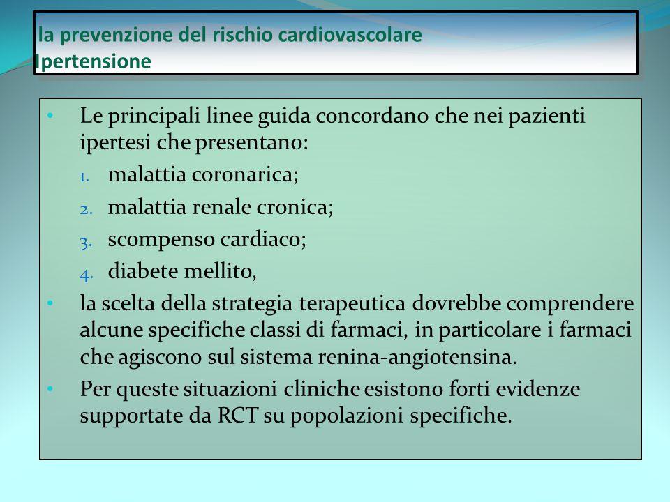 la prevenzione del rischio cardiovascolare Ipertensione