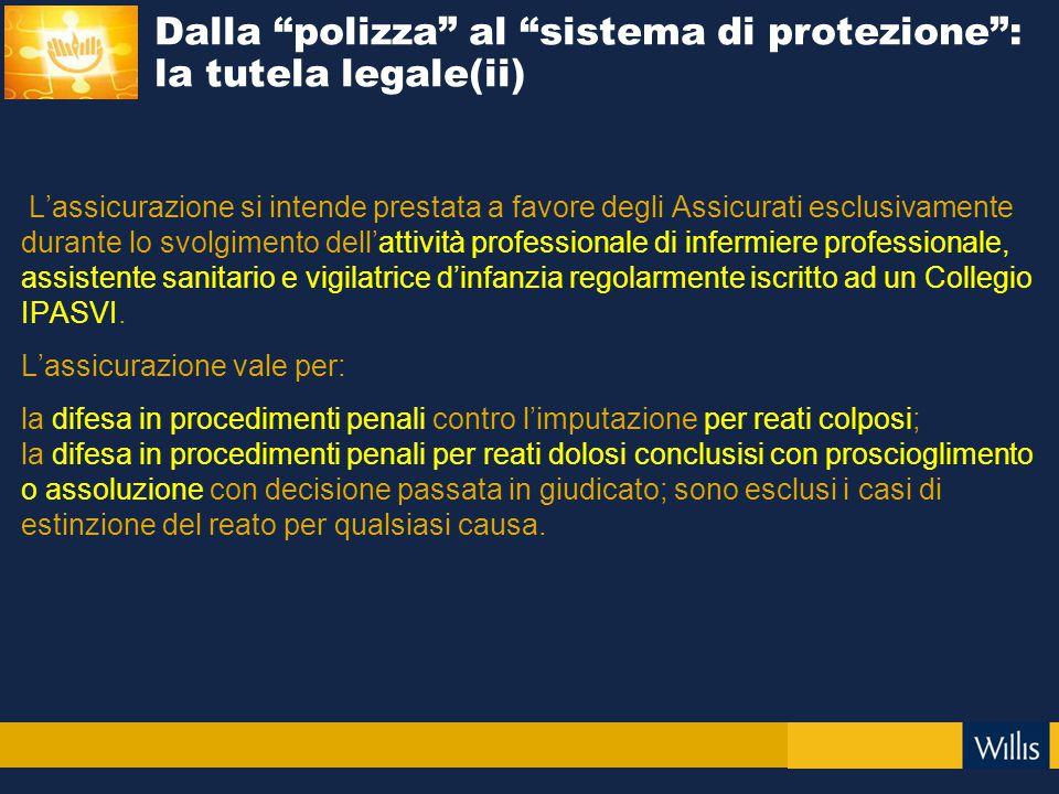 Dalla polizza al sistema di protezione : la tutela legale(ii)