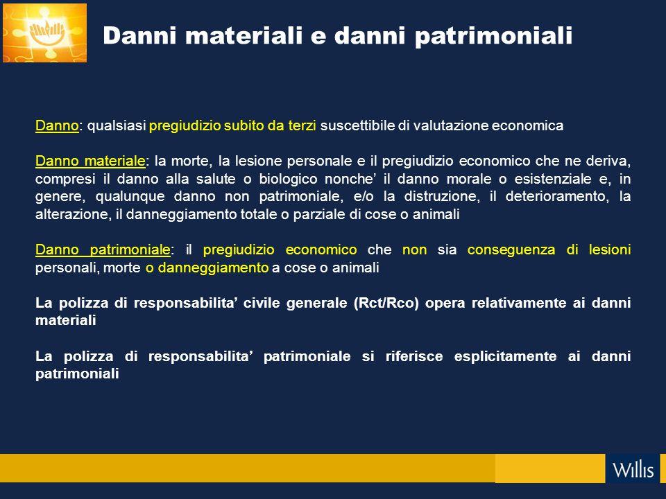 Danni materiali e danni patrimoniali