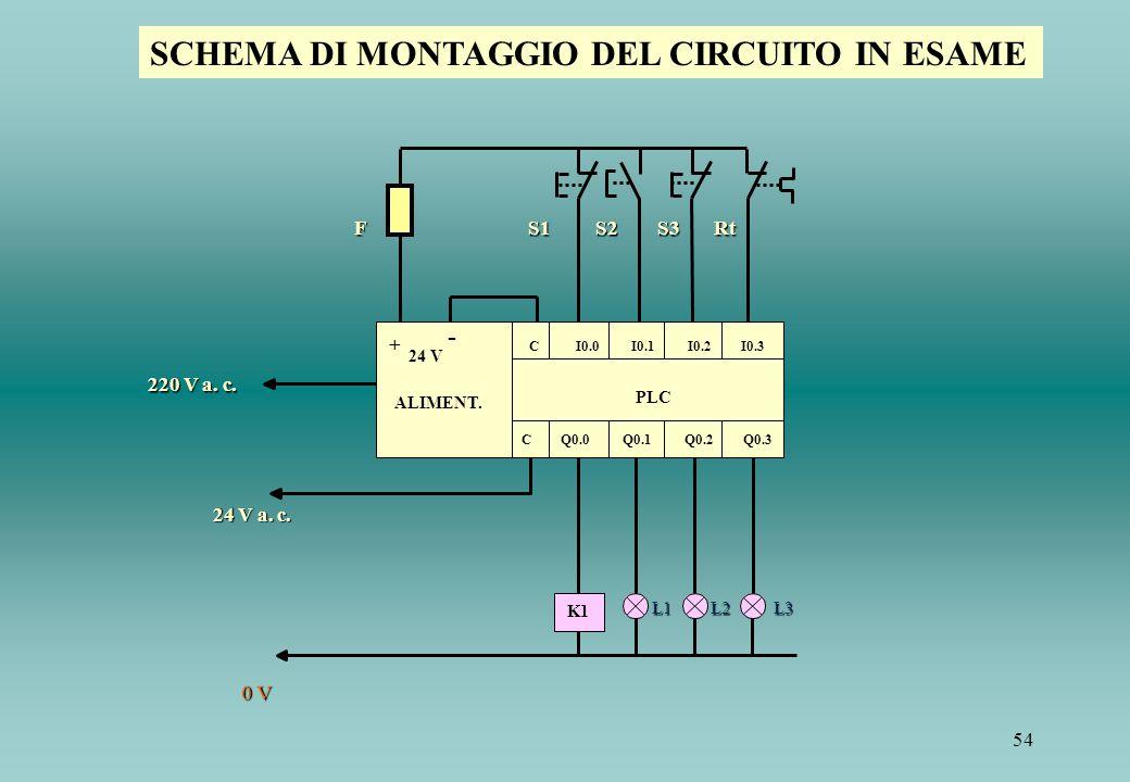 SCHEMA DI MONTAGGIO DEL CIRCUITO IN ESAME