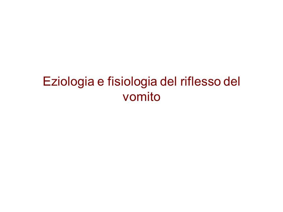 Eziologia e fisiologia del riflesso del vomito