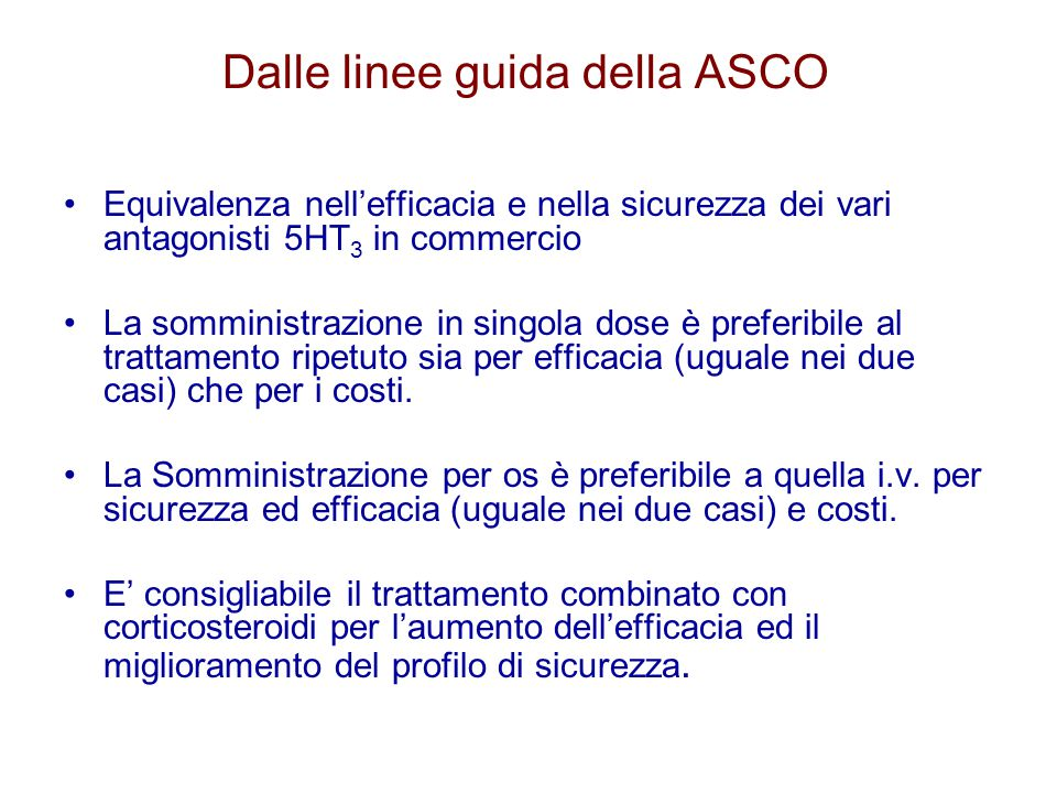 Dalle linee guida della ASCO