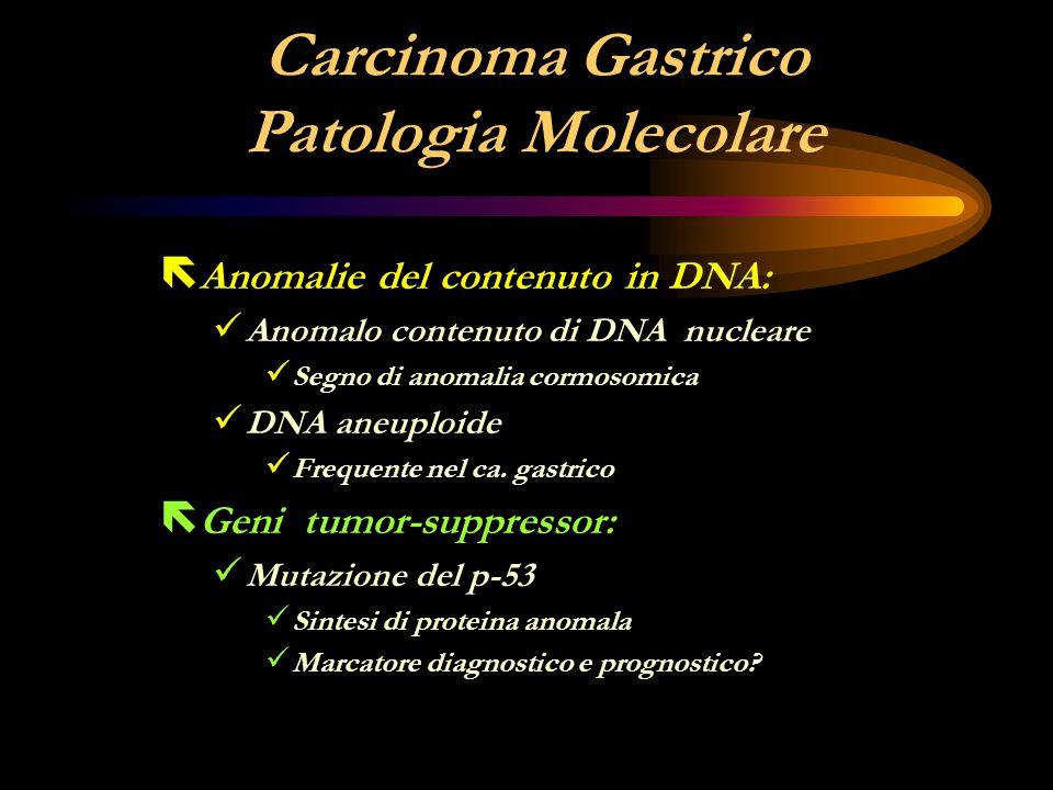 Carcinoma Gastrico Patologia Molecolare