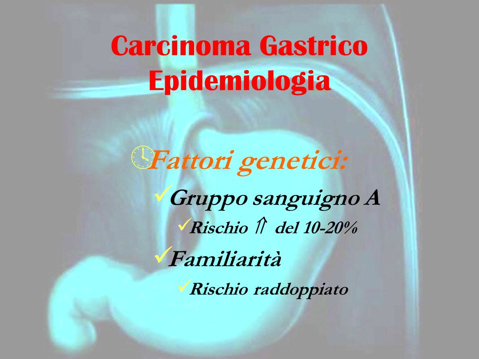 Carcinoma Gastrico Epidemiologia