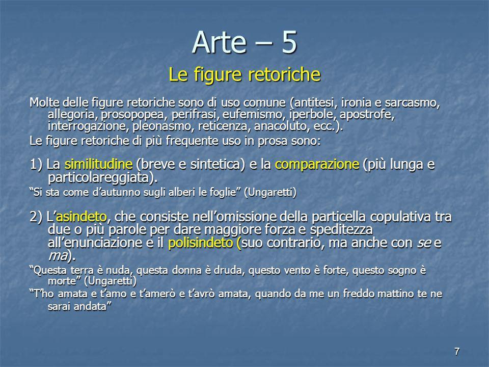 Arte – 5 Le figure retoriche