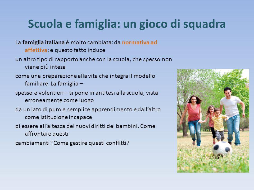 Scuola e famiglia: un gioco di squadra