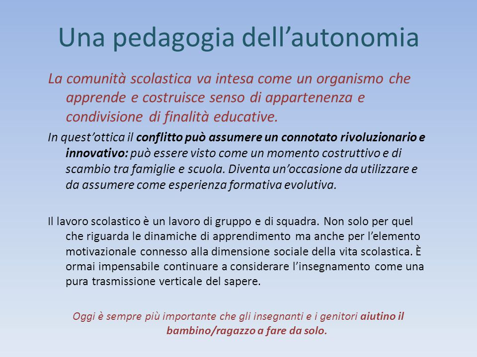 Una pedagogia dell'autonomia