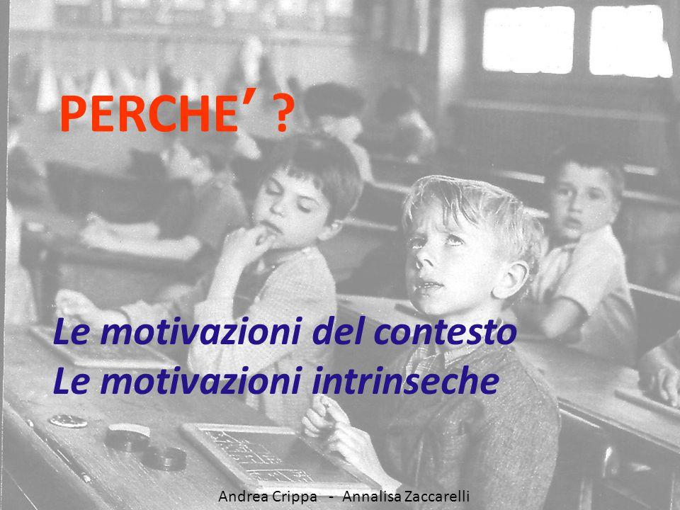 PERCHE' Le motivazioni del contesto Le motivazioni intrinseche