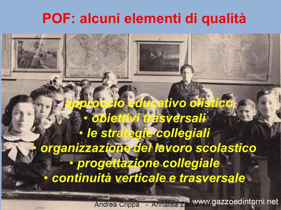 POF: alcuni elementi di qualità approccio educativo olistico