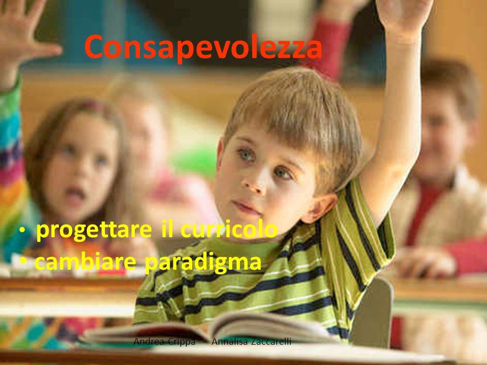Consapevolezza cambiare paradigma progettare il curricolo