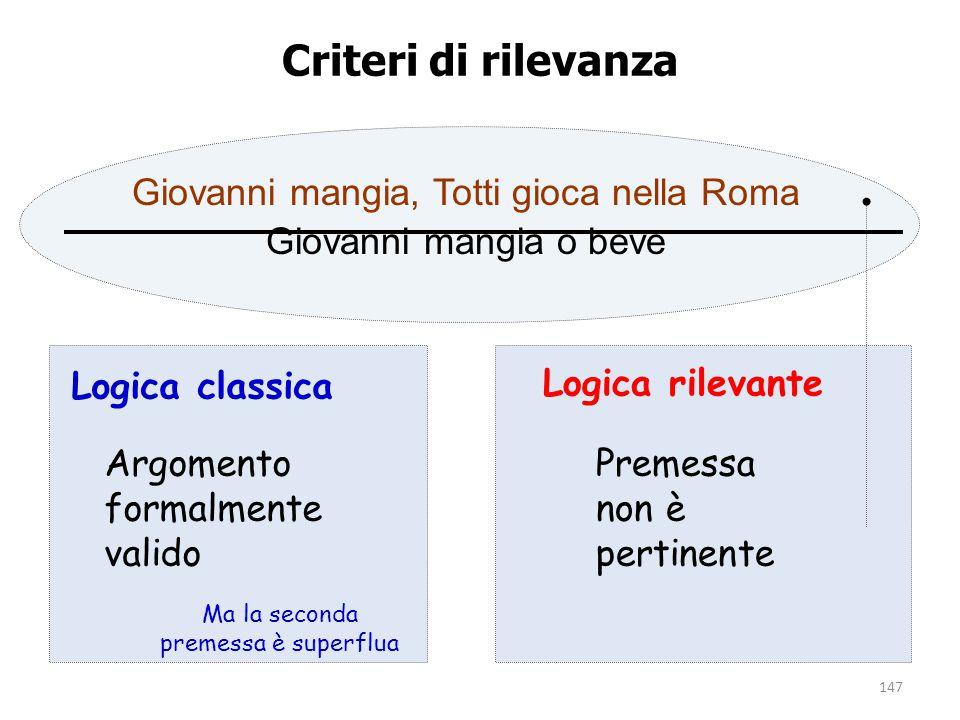 Criteri di rilevanza Giovanni mangia, Totti gioca nella Roma