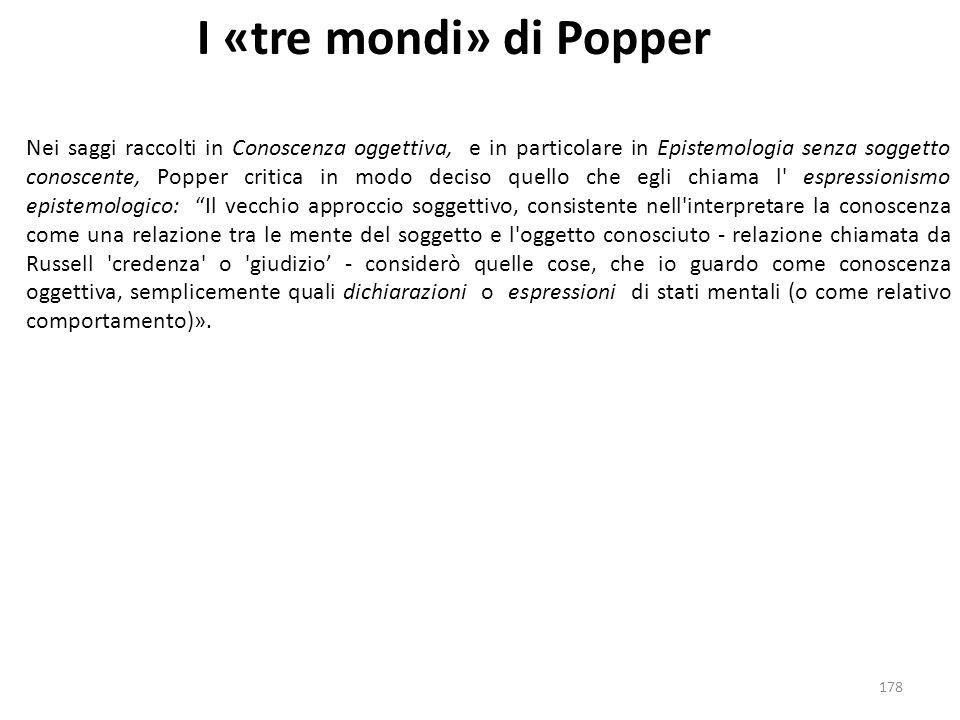 I «tre mondi» di Popper