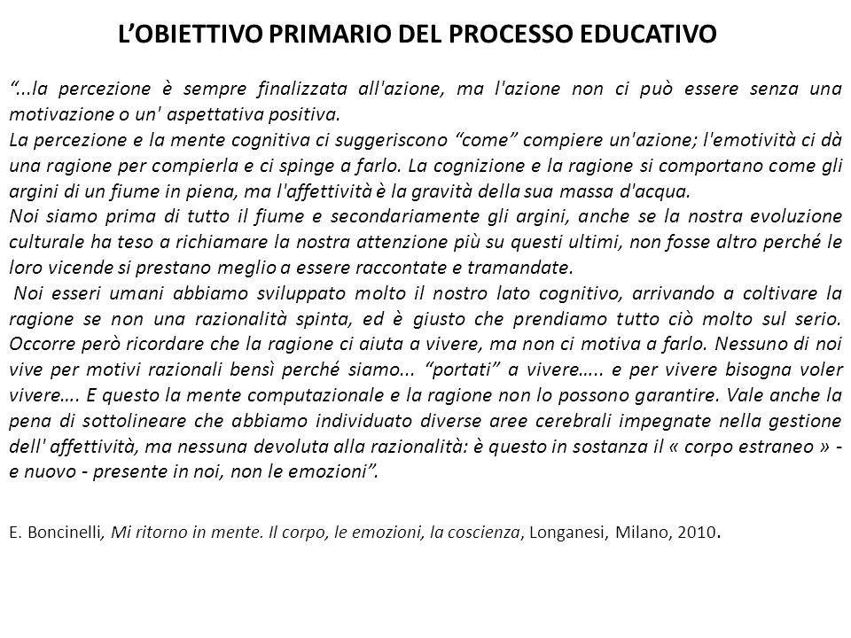 L'OBIETTIVO PRIMARIO DEL PROCESSO EDUCATIVO